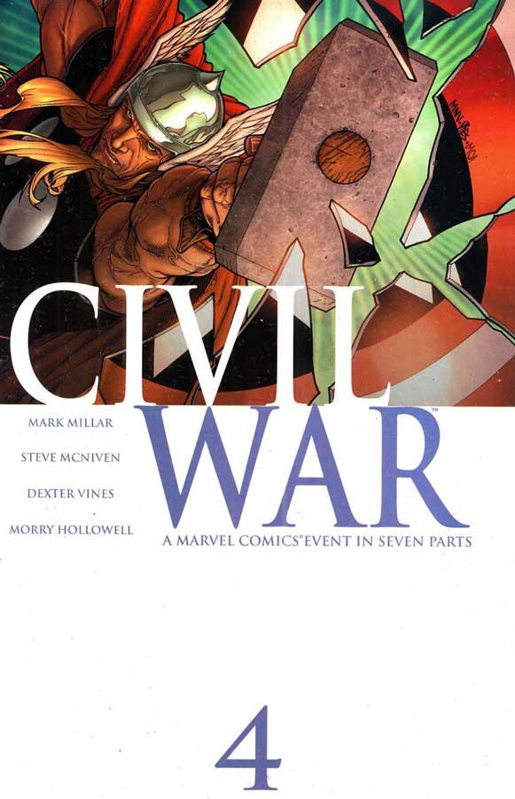 Civil War Vol 1 #4, комикс гражданская война, читать гражданская война, ciwil war comics