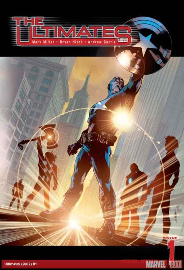 ultimates #1 vol 1 marvel 2008, читать комиксы марвел онлайн, капитан америка