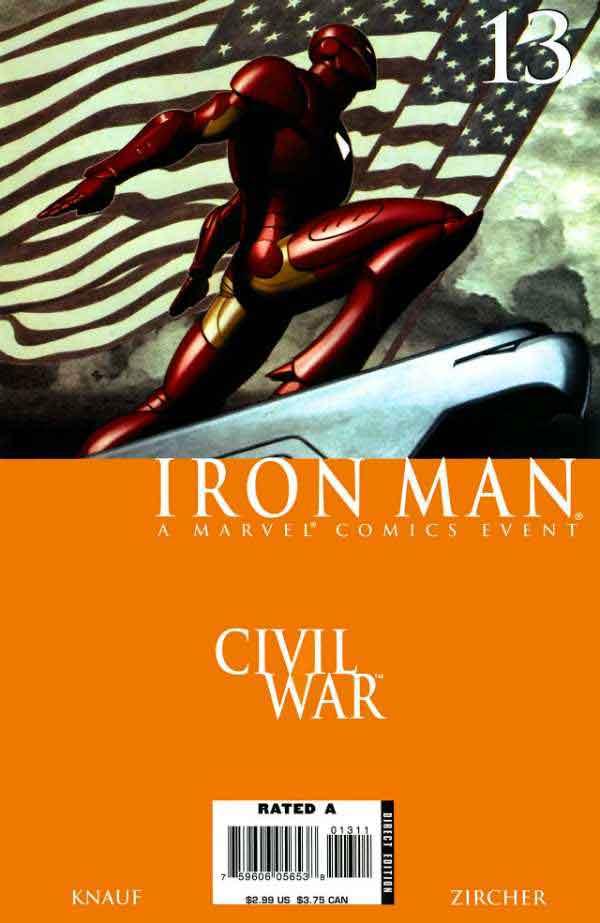 Железный Человек Том 4 #13 Гражданская Война, Iron Man #13 Vol 4, читать комиксы про Железного Человека
