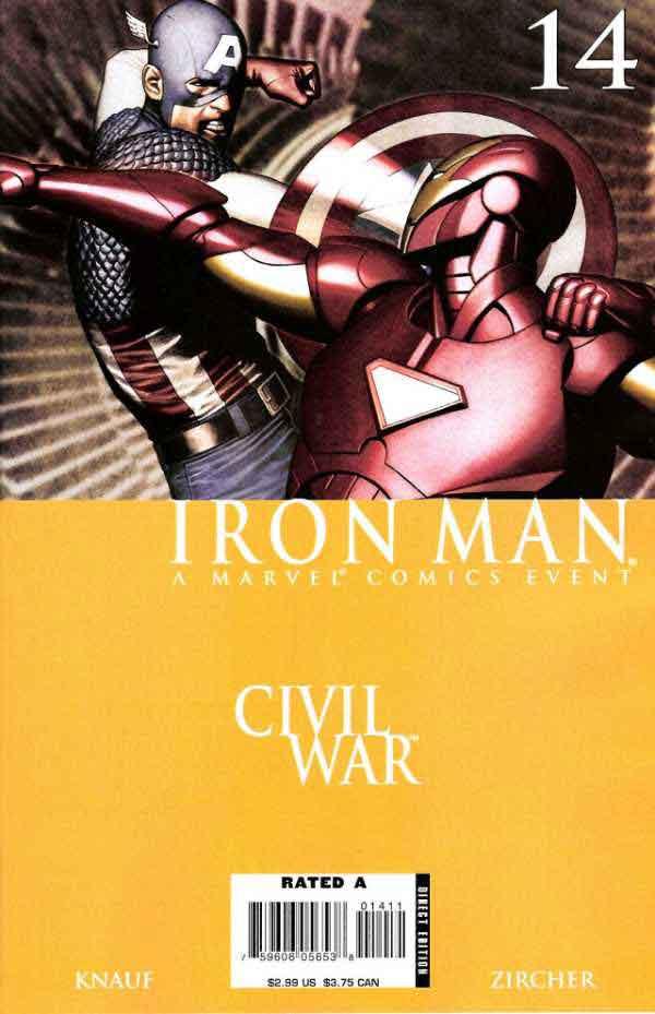 Железный Человек Том 4 #14 Гражданская Война, Iron Man #14 Vol 4, читать комиксы про Железного Человека