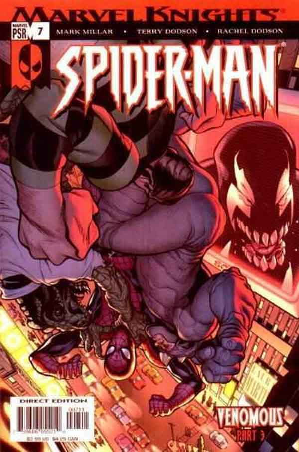 Marvel Knights Spider-Man #07, Человек Паук Веном, читать комиксы человек Паук