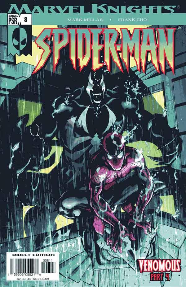 Marvel Knights Spider-Man #08, Человек Паук Веном, читать комиксы человек Паук