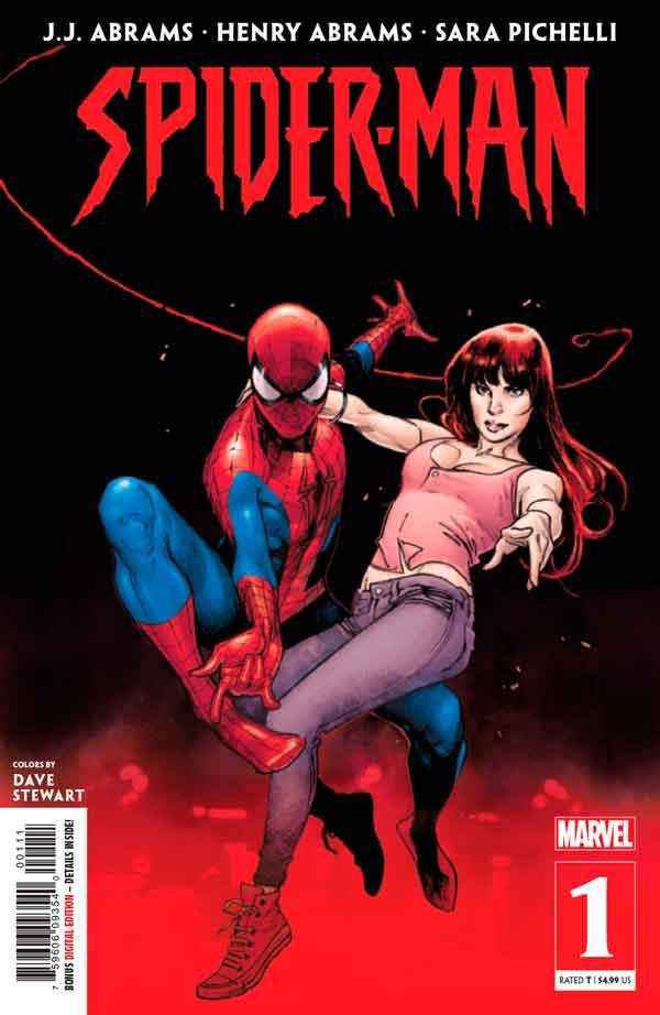 Spider-Man #1 (2019) Джей Джей Абрамс, Вариант обложки. Человек Паук Том 3 2019