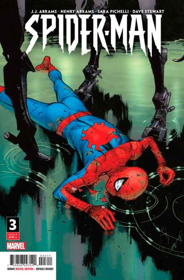 Spider-Man #3 (2019) Джей Джей Абрамс, Вариант обложки. Человек Паук Том 3 2019
