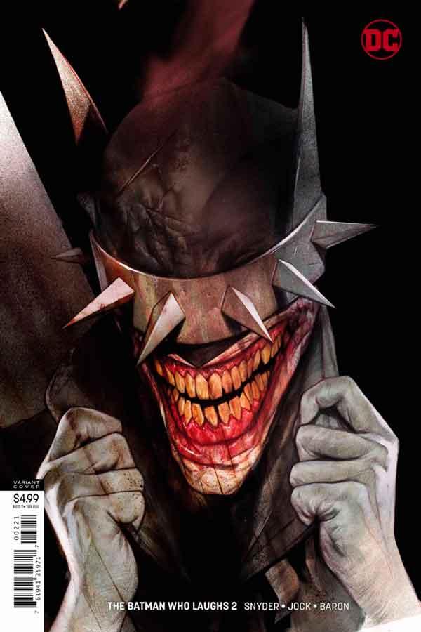Читать комиксы Бэтмен, который смеется #2 онлай, комиксы Бэтмен, альтернативная обложка