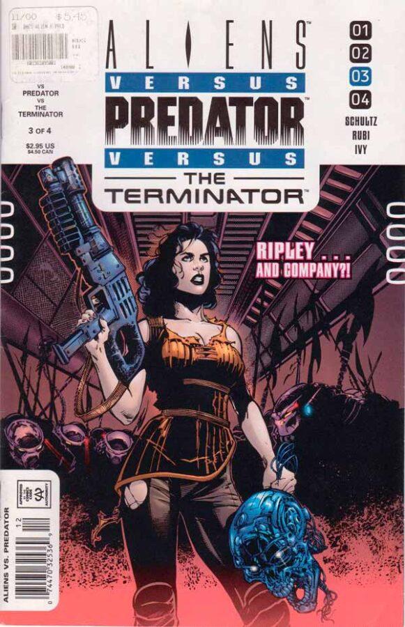 Aliens vs. Predator vs. The Terminator #3 Чужие против Хищника против Терминатора #3 читать скачать комиксы онлайн