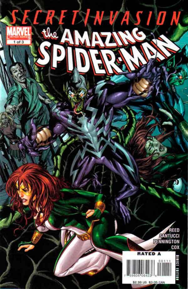 Secret Invasion: The Amazing Spider-Man Vol 1 #1 Тайное Вторжение: Удивительный Человек-Паук Том 1 #1 читать скачать комиксы онлайн