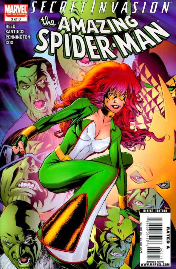 Secret Invasion: The Amazing Spider-Man Vol 1 #3 Тайное Вторжение: Удивительный Человек-Паук Том 1 #3 читать скачать комиксы онлайн