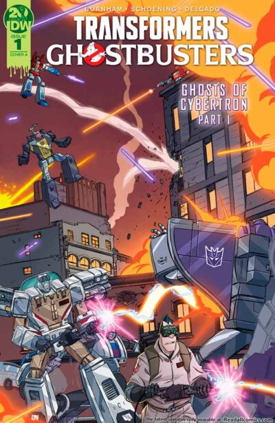 Transformers Ghostbusters #1 (2019) Трансформеры Охотники за Привидениями #1 комиксы читать онлайн