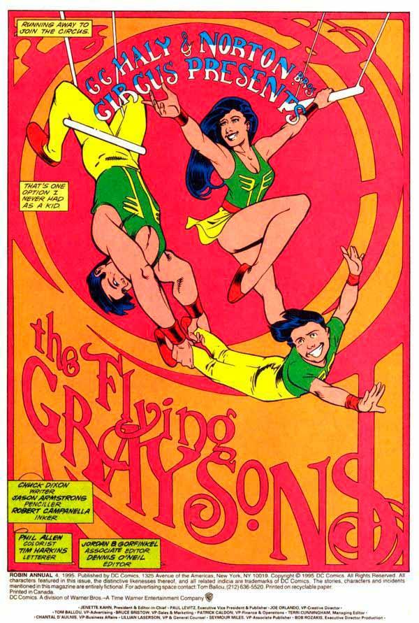 «Летающие Грейсоны из цирка Хейли» (The Flying Graysons of The Haley Circus) комиксы Робин, Найтвинг