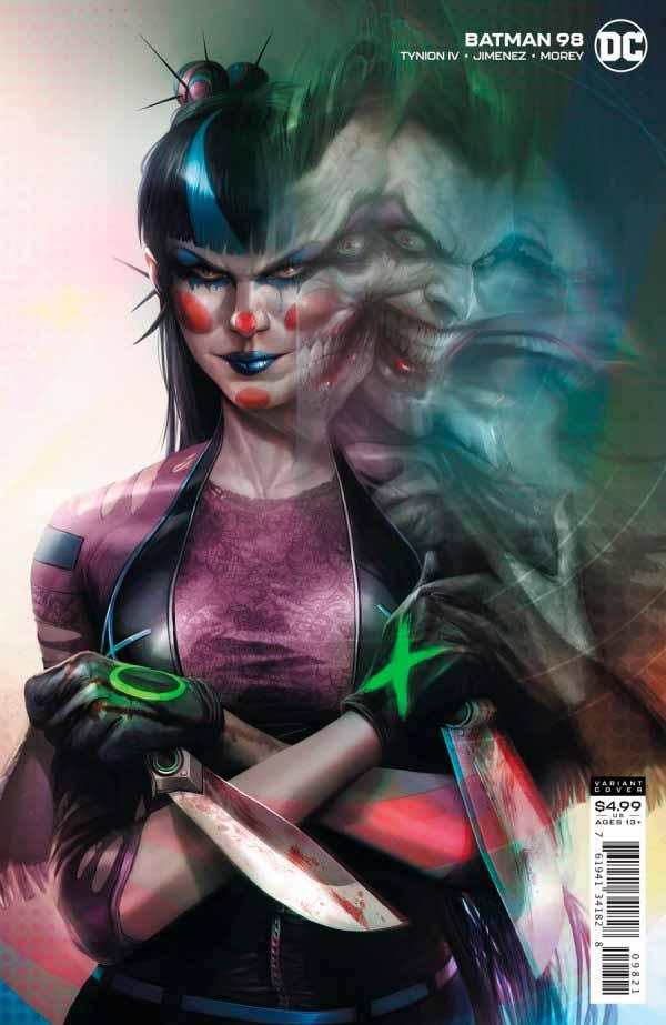 Бэтмен #98 Том 3 альтернативная обложка, Панчлайн Джокер