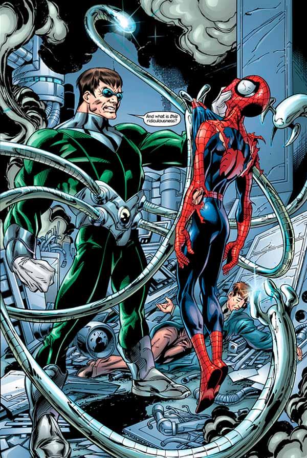 Доктор Октавиус против Человека-Паука, Док Ок и Питер Паркер, spider man vs octopus