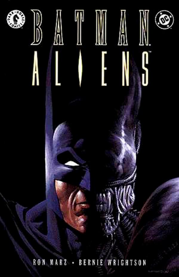 Batman/Aliens 1997, Бэтмен против Чужих, Чужие против Бэтмена
