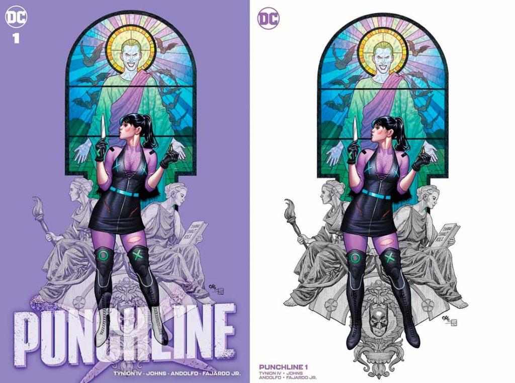 Вариант обложки Панчлайн #1 от FrankCho, Панчлайн #1 Том 1