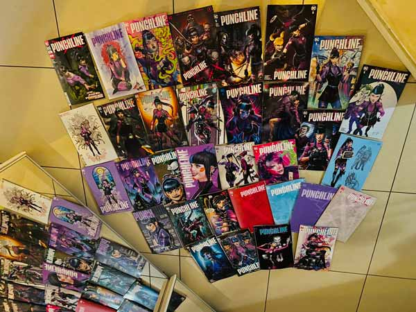 Все обложки комикса Панлчайн, первый выпуск Панчлайн ДС