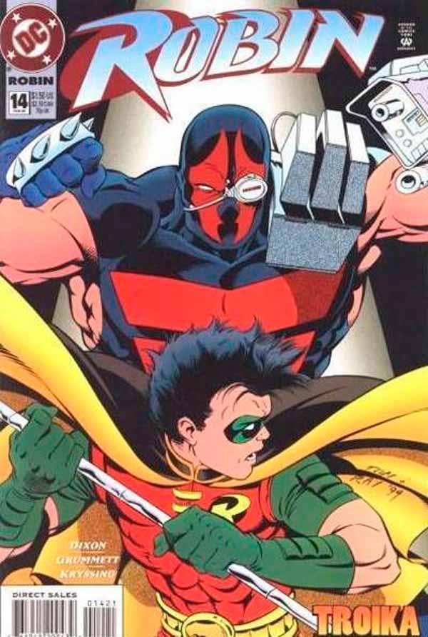 Robin Vol 2 #14, комиксы про Робина, Бэтмен Тройка