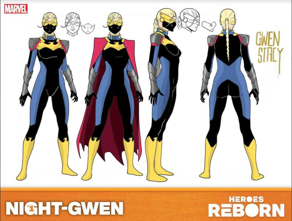 Найт-Гвен (Night-Gwen), персонаж комиксов Гвен Стейси, Heroes Reborn: Night-Gwen #1